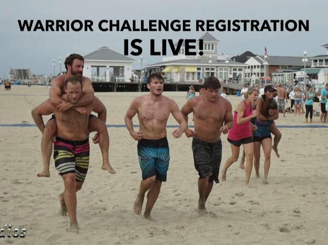 Monday Training and Warrior Challenge Registration